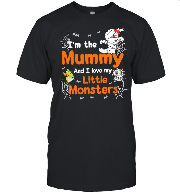 I'm The Mummy And I Love My Little Monsters Halloween Shirt