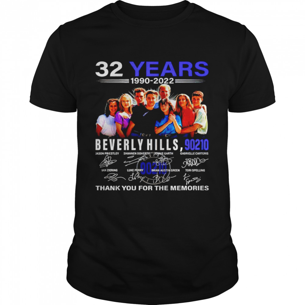 32 Years 1990 2022 Beverly Hills 90210 Signatures Thank You For The Memories Shirt