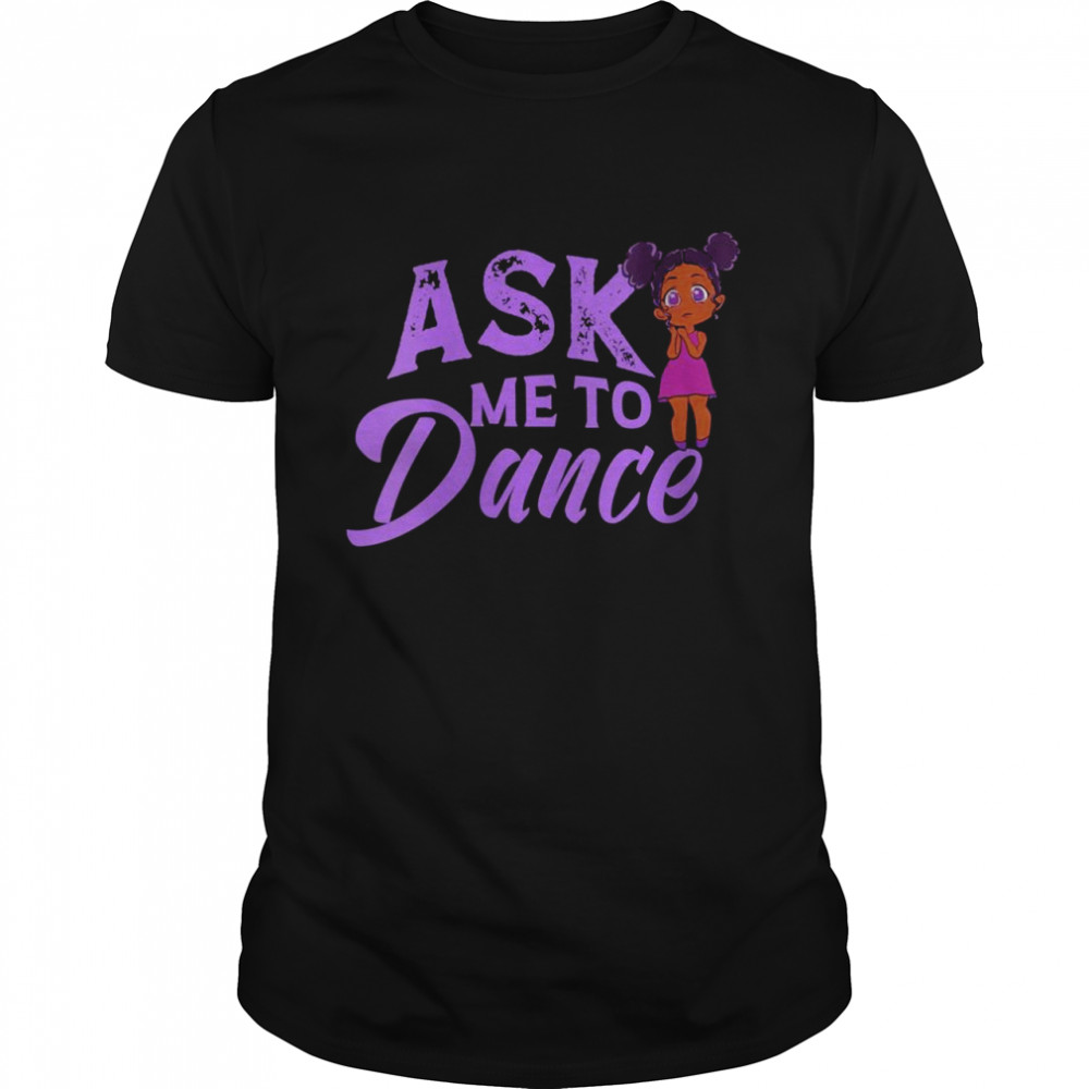Ask Me To Dance Featuring Anime Style Black Shirt