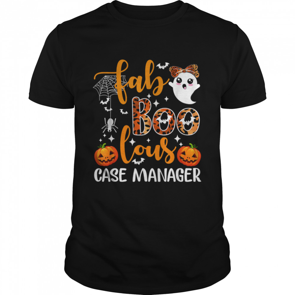 Faboolous Case Manager Case Manager Squad Halloween Shirt