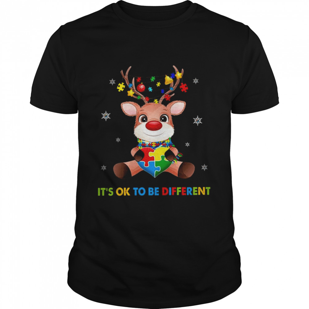 It's Ok To Be Different Merry Christmas Shirt