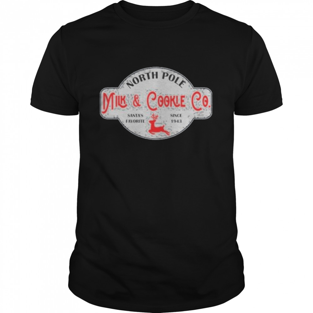 North Pole Milk And Cookie Co Christmas Shirt