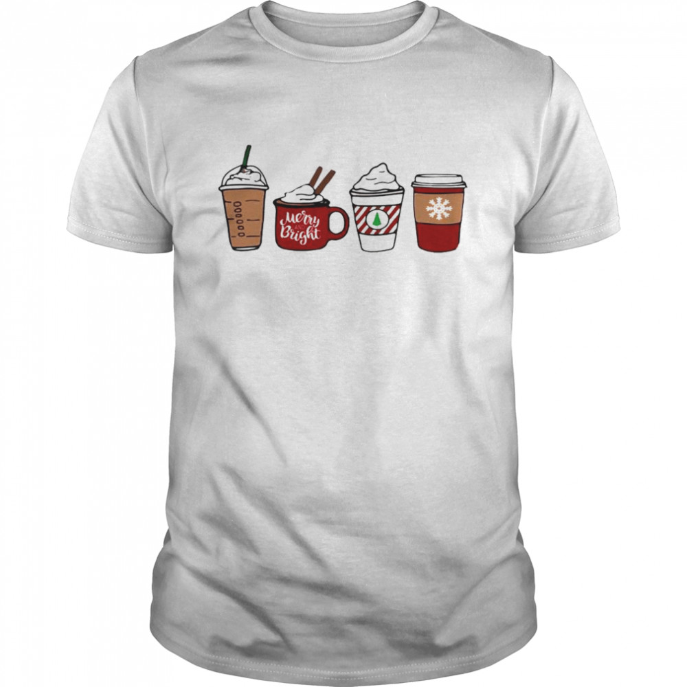 Official Christmas Coffee Merry And Bright Shirt