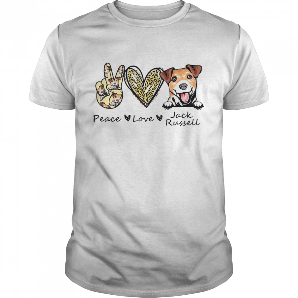 Peace Love Jack Russell Dog Shirt