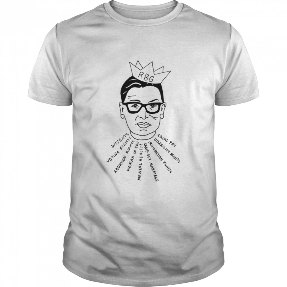 Rbg Dissents Voting Rights Abortion Rights Woman In Edu Equal Pay Shirt