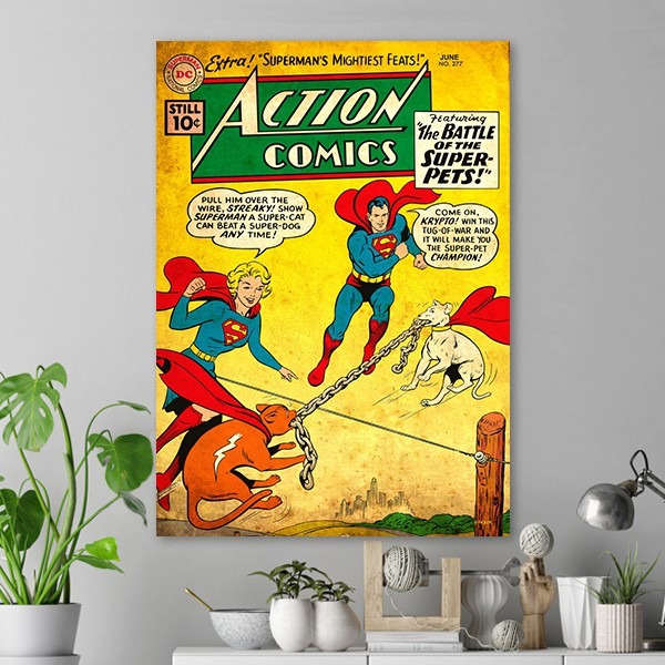 Action Comics Superman And Supergirl Poster