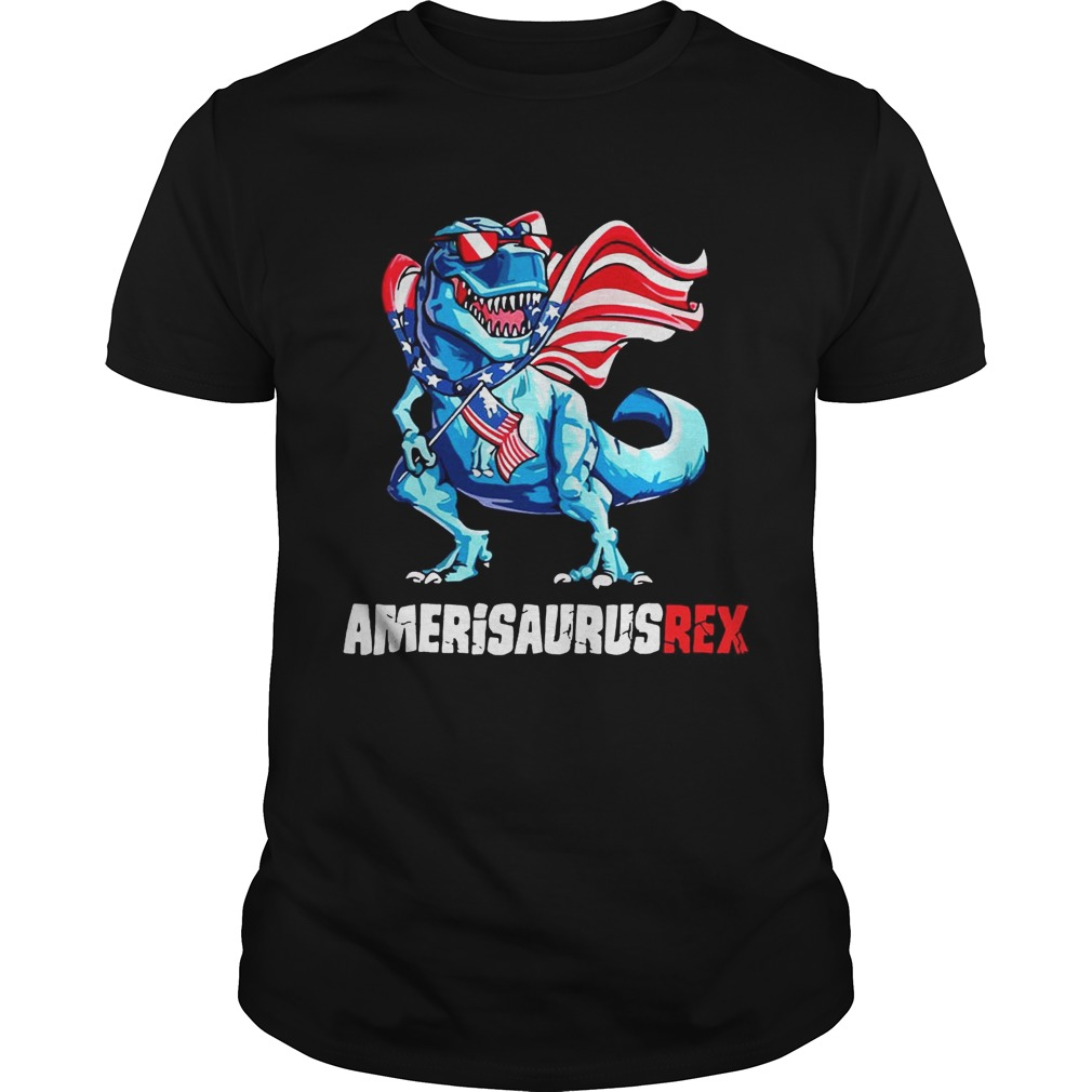 Independence Day 4Th July Amerisaurus T-Rex Shirt